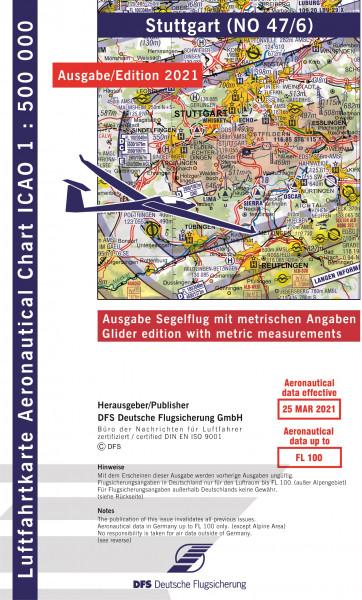ICAO-Karte, Blatt Stuttgart (Ausgabe 2021), Segelflug 1:500.000