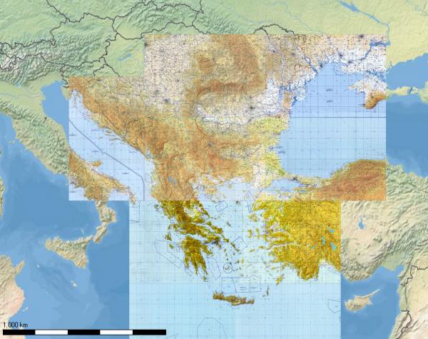Flight Planner - TPC-Karten - Süd-Ost Europa