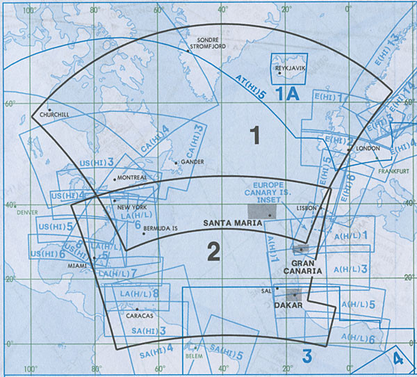 Jeppesen Atlantic Orientation Chart AT(H/L) 1/2