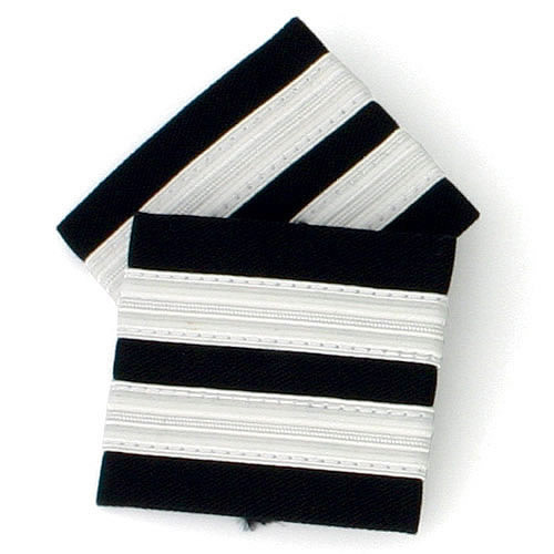 Schulter-Rang-Streifen 2er, silber, large