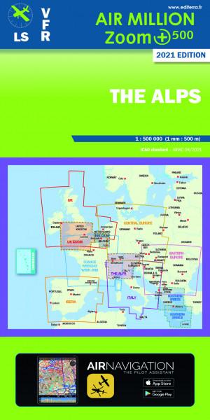 AIR MILLION: VFR-Zoom-Karte The Alps 1:500.000