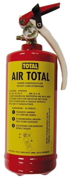Feuerlöscher TOTAL Air Total - Halon1211 - 1,2 kg