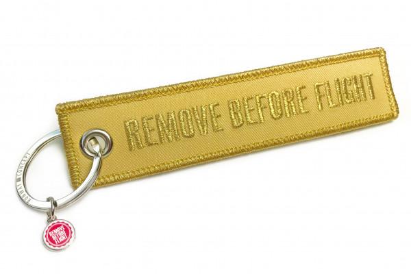 REMOVE BEFORE FLIGHT - Schlüsselanhänger GOLD