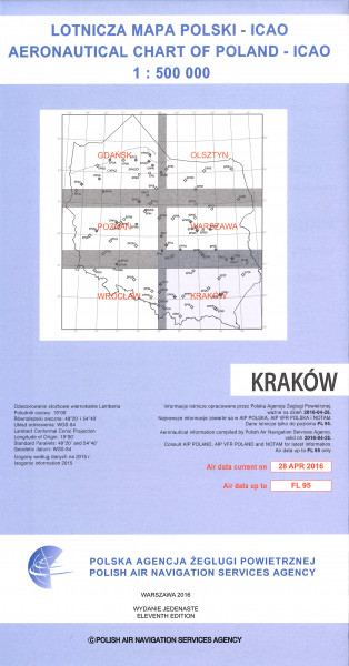 ICAO-Karte Polen Krakow