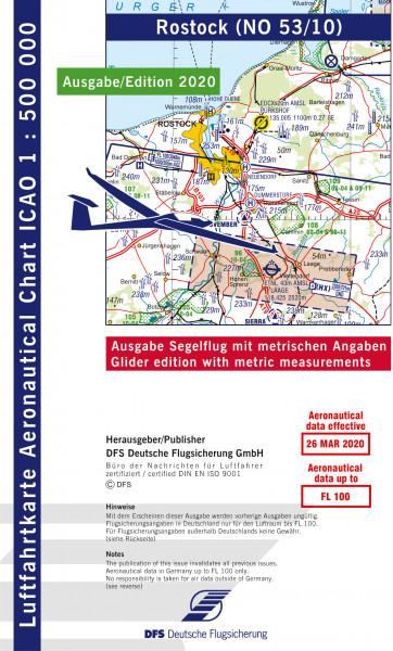 ICAO-Karte, Blatt Rostock (Ausgabe 2020), Segelflug 1:500.000