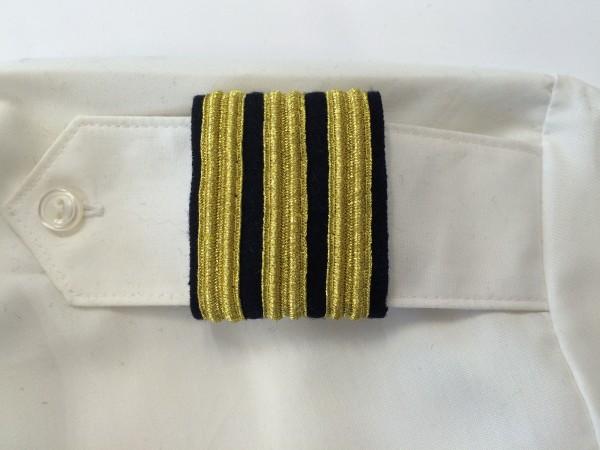 """Schulter-Rang-Streifen 3er """"First Officer"""", gold"""