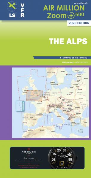 AIR MILLION: VFR-Zoom-Karte The Alps 1:500.000 (Vorbestellung)
