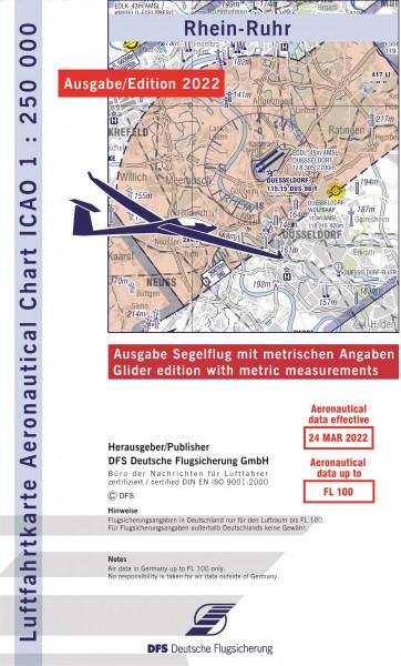 ICAO-Karte, Blatt Rhein-Ruhr (Ausgabe 2020), Segelflug 1:250.000