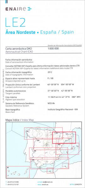 ICAO-Karte Spanien LE2 Area Norteste