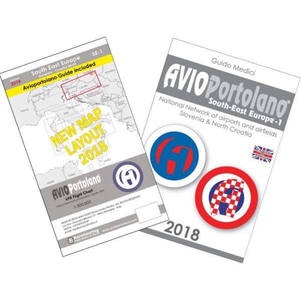 AVIOportolano Aerotouring VFR Flight Chart Slovenia-Croatia North (SE-1)